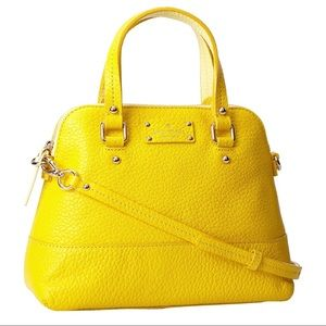 NWOT Kate Spade Yellow Leather Maise Shoulder bag